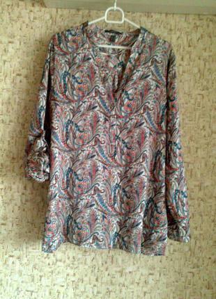 42-44р. свободная цветная блузка