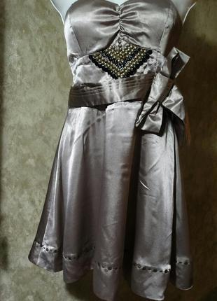 Атласное платье юбка солнце cotton club