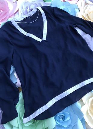 Синяя блуза размер 14