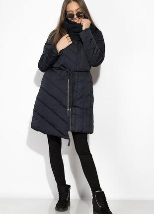 Зимняя  женская куртка с хомутом