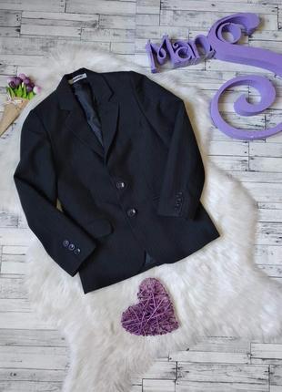 Школьный пиджак manzer на мальчика черный в полоску