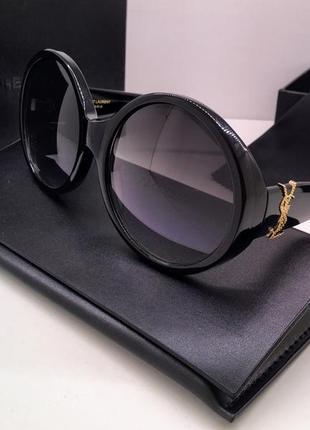 Saint laurent очки женские солнцезащитные чёрные крупные классика