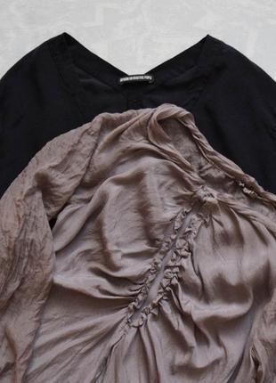 Лот: верблюжий цвет шелковая блузка и черная шелковая блузка 100% шелк