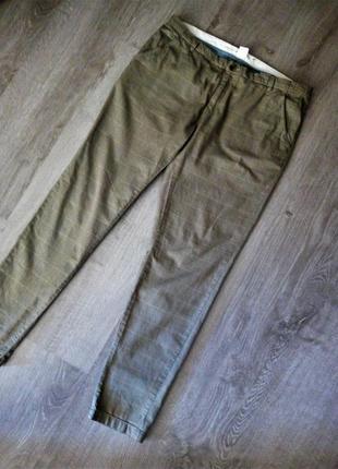 😍стильные трендовые коттоновые брюки в клетку / брючки в клеточку / клетчатые брюки штаны