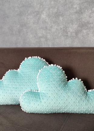 Бортики в кроватку облачка