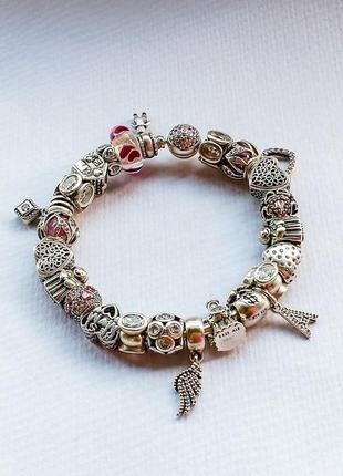 Pandora браслет с шармами оригинал
