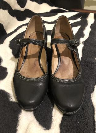 Черные классические кожанные туфли 👠