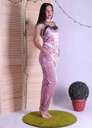 Женская пижама топ с штанами