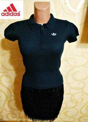 Шерстяной свитер с коротким рукавом adidas, оригинал пр-во тайвань