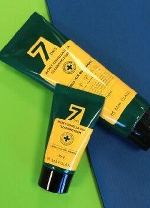 Очищающая пенка для чувствительной кожи лица may island 7 days secret centella cica