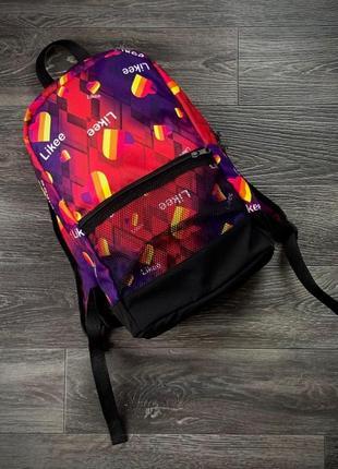Рюкзак с принтом likee сумка лайки ранец женский / мужской
