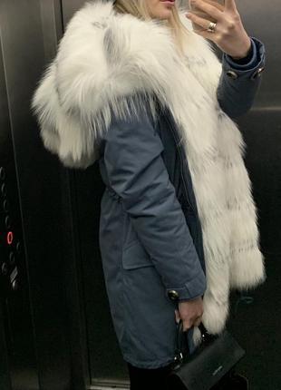 Парка с мехом полярной лисы udekasi furs