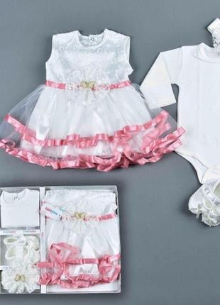 Комплект на крещение, на выписку из роддома,платье
