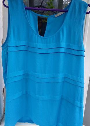 Красивая летняя блуза небесного цвета