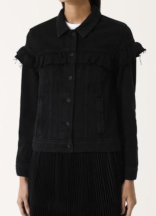 Мега стильная джинсовая куртка с оборками yessica 100% котон