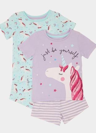 Набор пижамок 2 шт. в уп., dunnes, англия. размер 12-18 мес