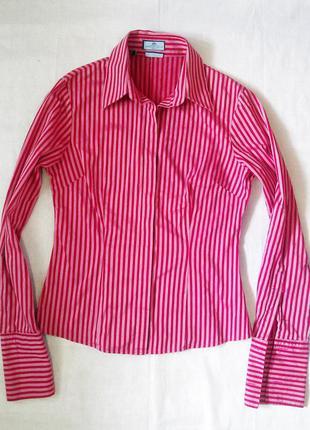 Якісна блуза рубашка по фігурі hawes&curtis рубашка в полоску/полосатая блуза