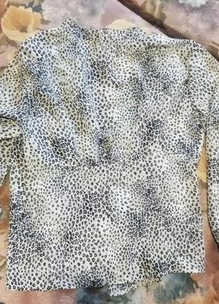 Актуальна блузка в леопардовий принт2 фото