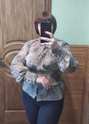 Актуальна блузка в леопардовий принт