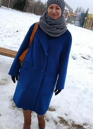 Пальто миди,  шерсть 70%