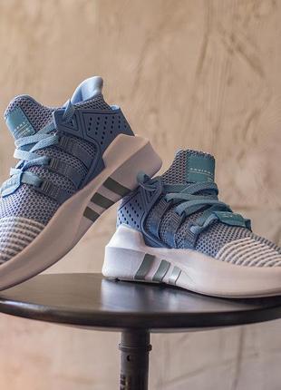 Женские кроссовки adidas eqt bask adv blue адидас екьюти баск