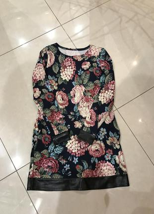 Приколтное платье в цветах