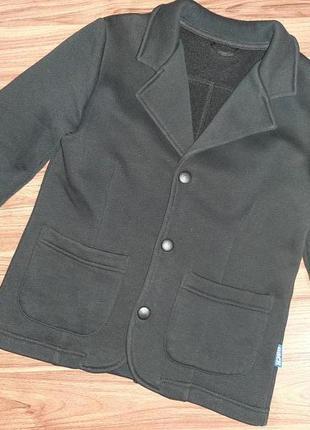 Трикотажный пиджак с начесом  тм овен (украина) 116-122-128 р.