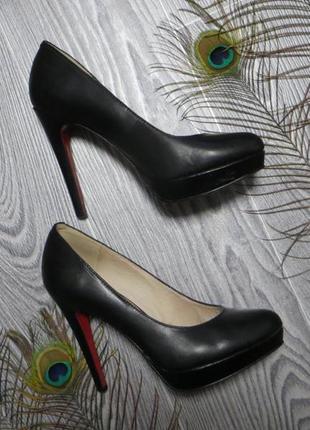 ☝️стильные кожаные туфли 5th avenue, лабутены красная подошва