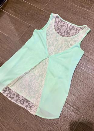 Летняя блуза oggi с кружевом