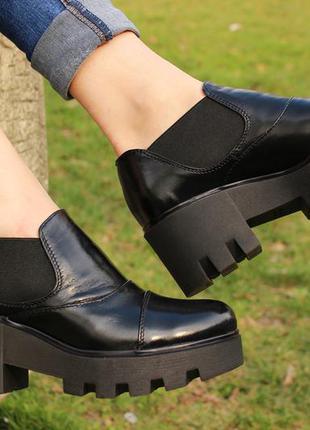 Туфли кожа черные 36 37 38 39