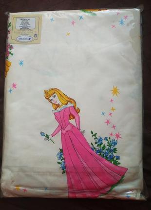 Комплект детского постельного белья с принцессами