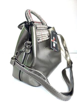 Стильная фирменная сумочка из качественного кожзама just&polo