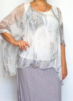 Блуза, туника, италия. шелк