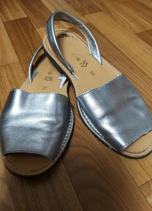 Босоножки tamaris кожа серебро