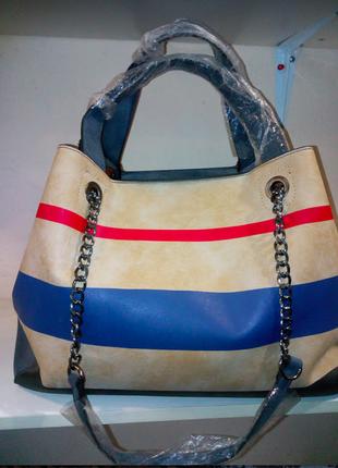 Сумка стильная сумка сумка шоппер  сумка трансформер две сумки в одной короткая ручка