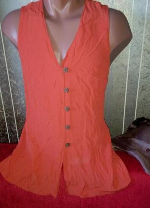 Вискоза блуза на пуговицах размер xl