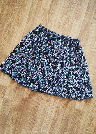 Лёгкая юбка в цветочный принт f&f