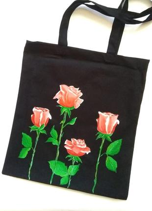Экосумка экоторба торба сумка шопер пляжная екосумка екоторба екосумка розы с цветами