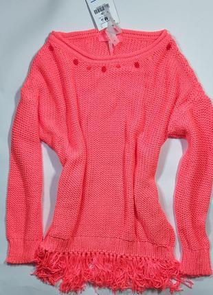 Яркий неоновый свитер