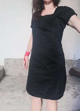 Платье базовое хлопок хлопоковое / плаття базове хлопкове до колена