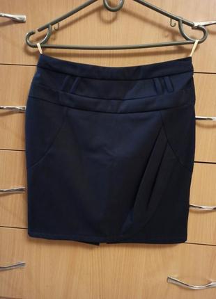 Школьная синяя юбка новая - см.замеры