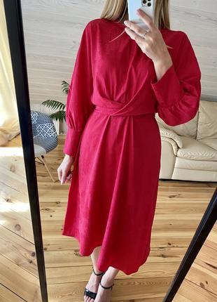 Шикарное элегантное малиновое  платье