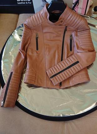 Куртка короткая кожаная по распродаже