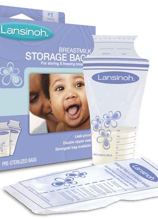 Пакеты для хранения и замораживания грудного молока lansinoh, 20 шт.