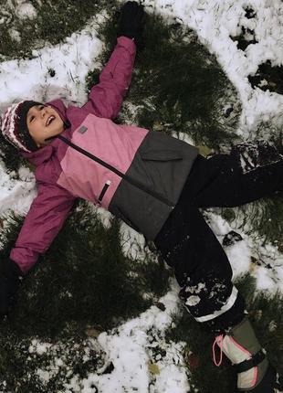 Детский зимний горнолыжный костюм раздельный комбинезон для девочки р.140-146 lego wear