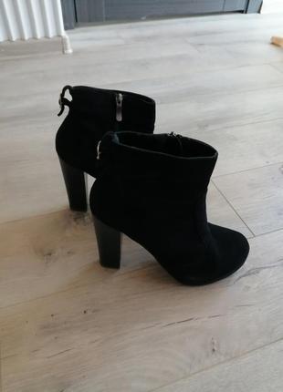 Замшевые ботинки 40р.