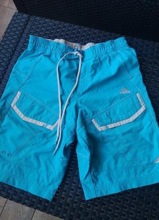 Крутезные яркие шорты adidas(оригинал) 146-152р