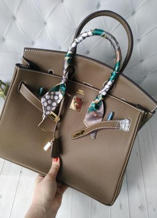 Женская классическая  сумка в стиле hermes birkin!