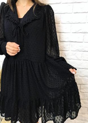 Нежное платье свободного кроя