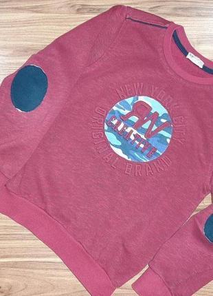 Свитшот трикотажный bay figo 128 р. 7-8 лет для мальчика,  бордового цвета